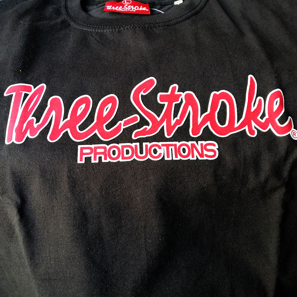 T-SHIRT Three-Stroke BLACK (RED / WHITE)