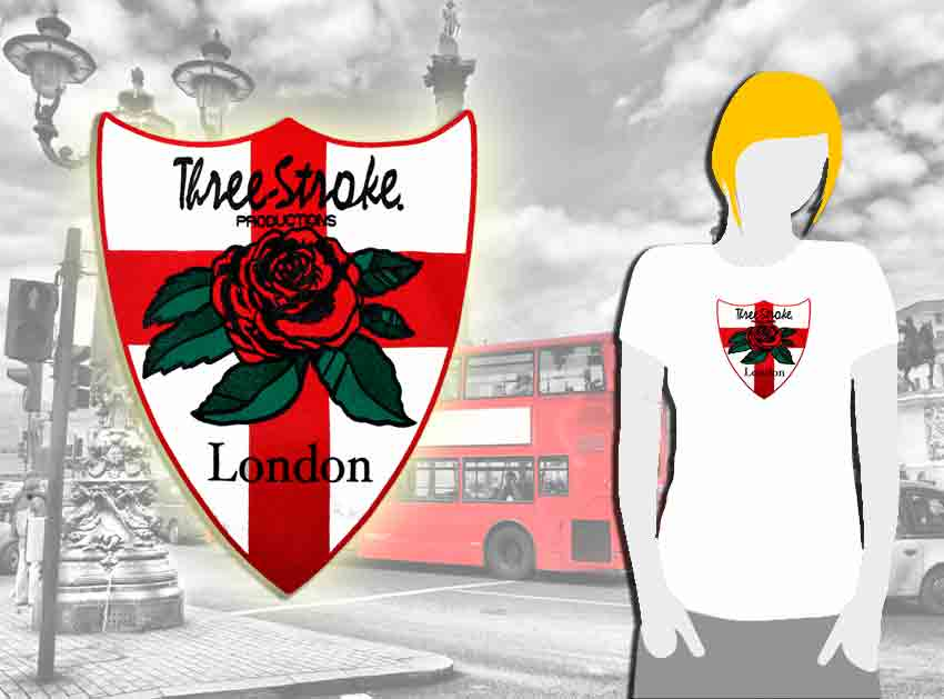 T-SHIRT GIRL Three-Stroke WHITE (ROSE/ENGLAND)
