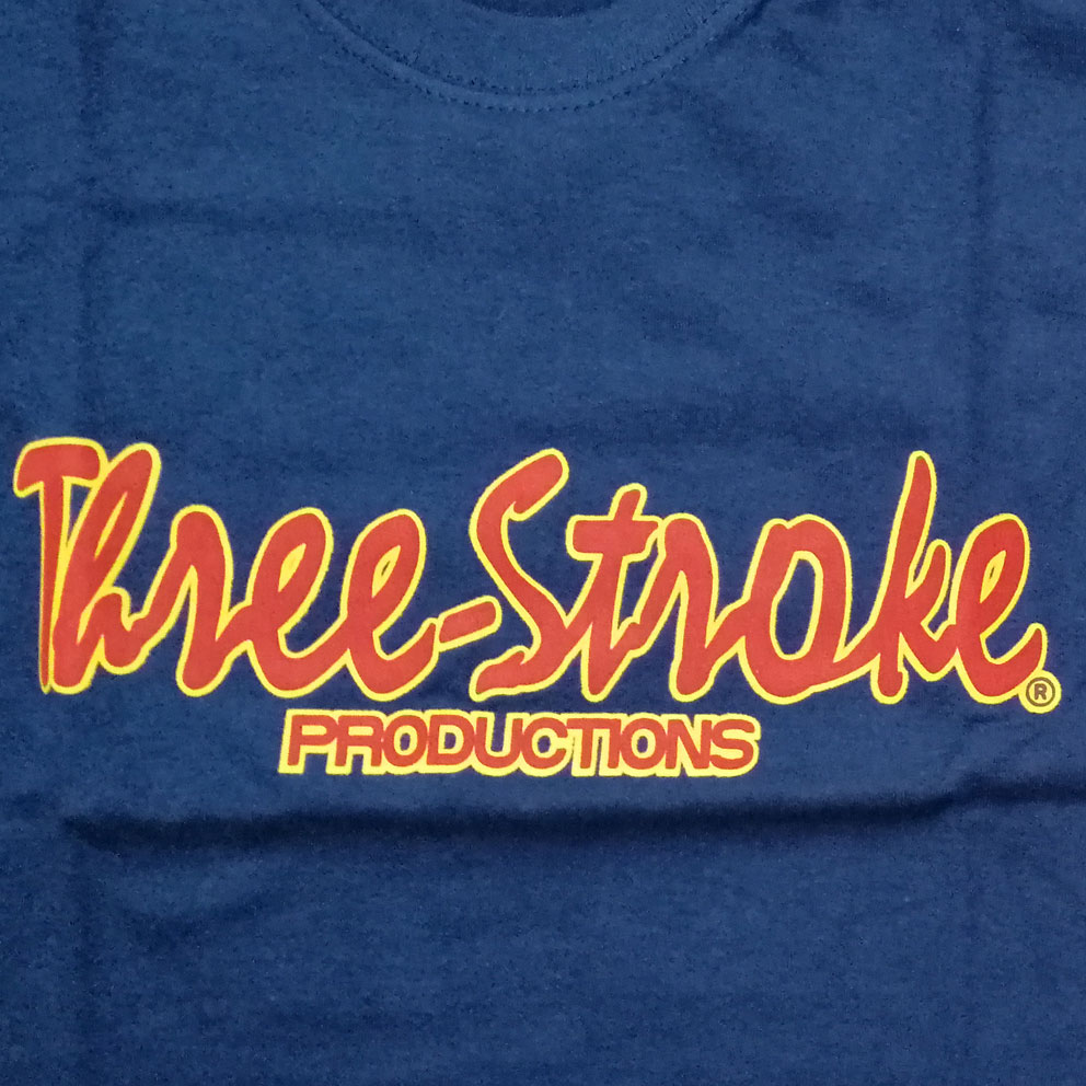 CAMISETA Three-Stroke AZUL MARINO (BURDEOS / AMARILLO)