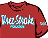 CAMISETA Three-Stroke BURDEOS (BLANCO / CELESTE)