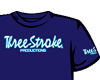 T-SHIRT Three-Stroke NAVY (WHITE/ICE)