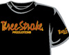 CAMISETA Three-Stroke NEGRA (BURDEOS / AMARILLO)