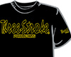 CAMISETA Three-Stroke NEGRA (NEGRO / AMARILLO)