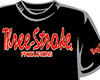CAMISETA Three-Stroke NEGRA (ROJO / BLANCO)