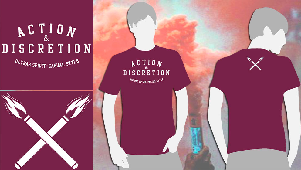 T-SHIRT BURGUNDY A&D (ULTRAS SPIRIT.CASUAL STYLE)