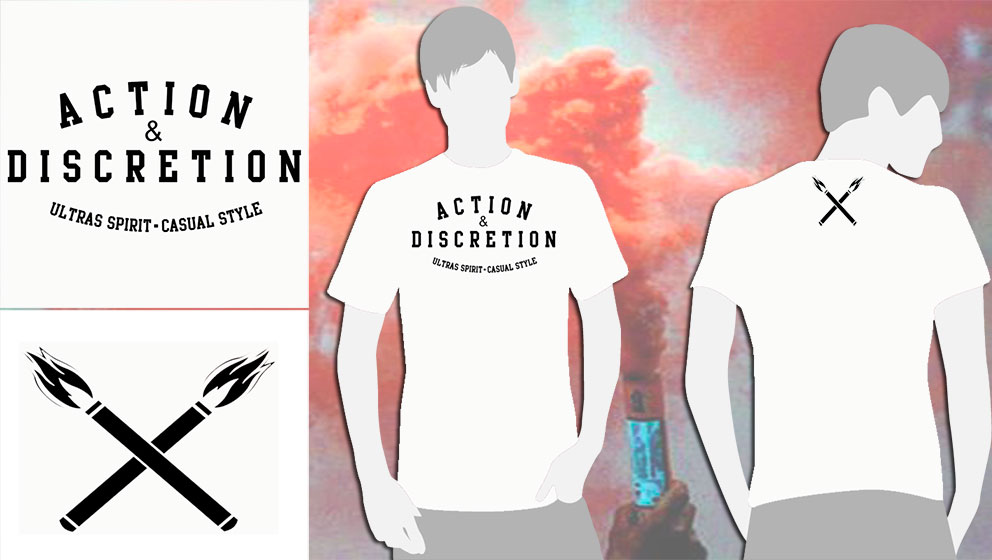 T-SHIRT WHITE A&D (ULTRAS SPIRIT.CASUAL STYLE)