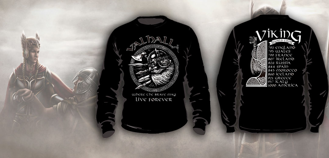 SUDADERA NEGRA VIKING WORLD TOUR
