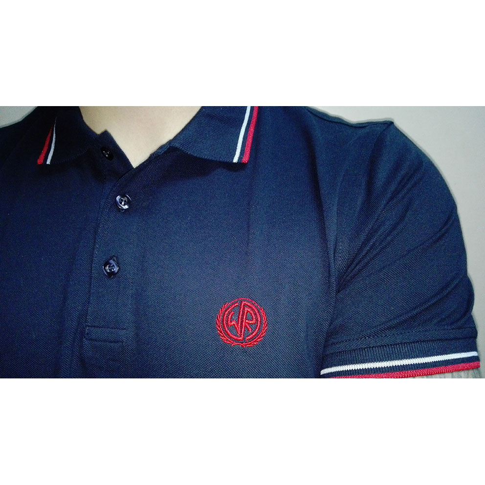 POLO WHITE and REBEL -NAVY-