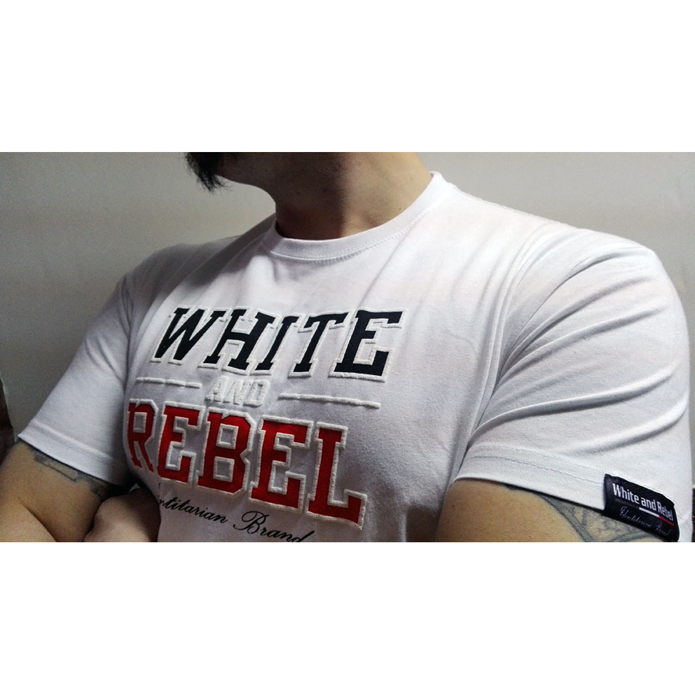 CAMISETA WHITE and REBEL BLANCA
