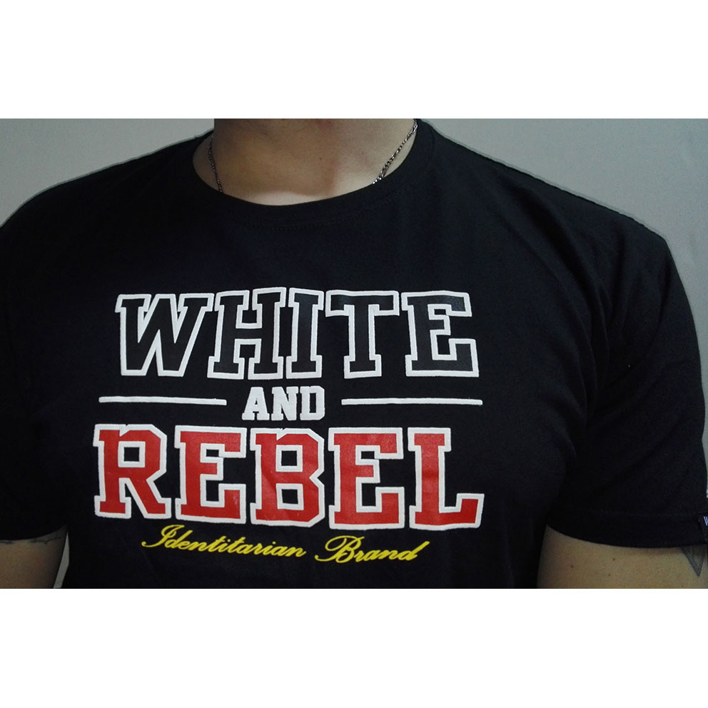 CAMISETA WHITE and REBEL NEGRA