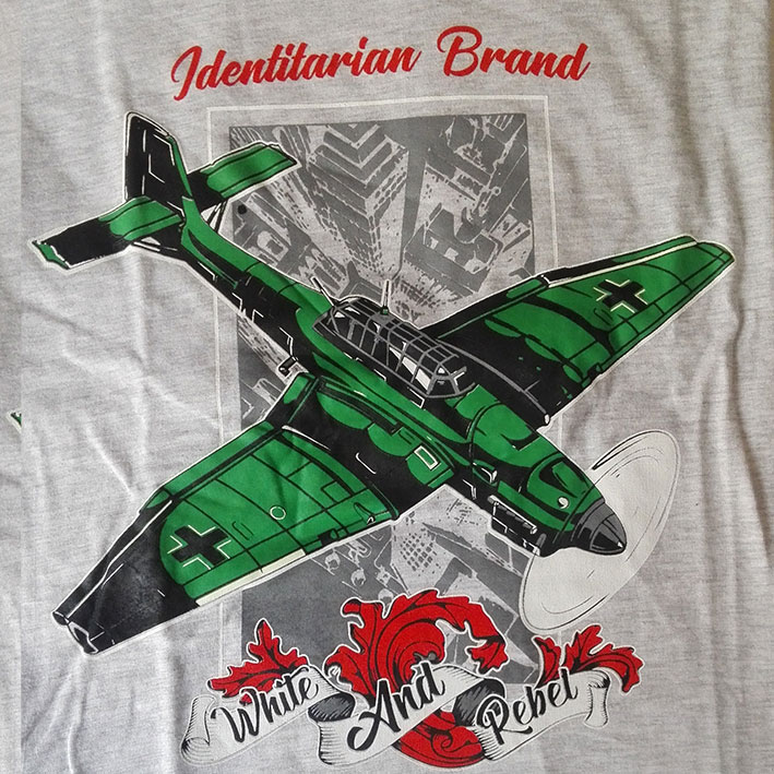 CAMISETA WHITE and REBEL STUKA -GRIS-