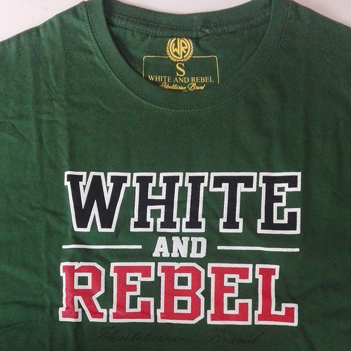 T-SHIRT WHITE and REBEL GREEN