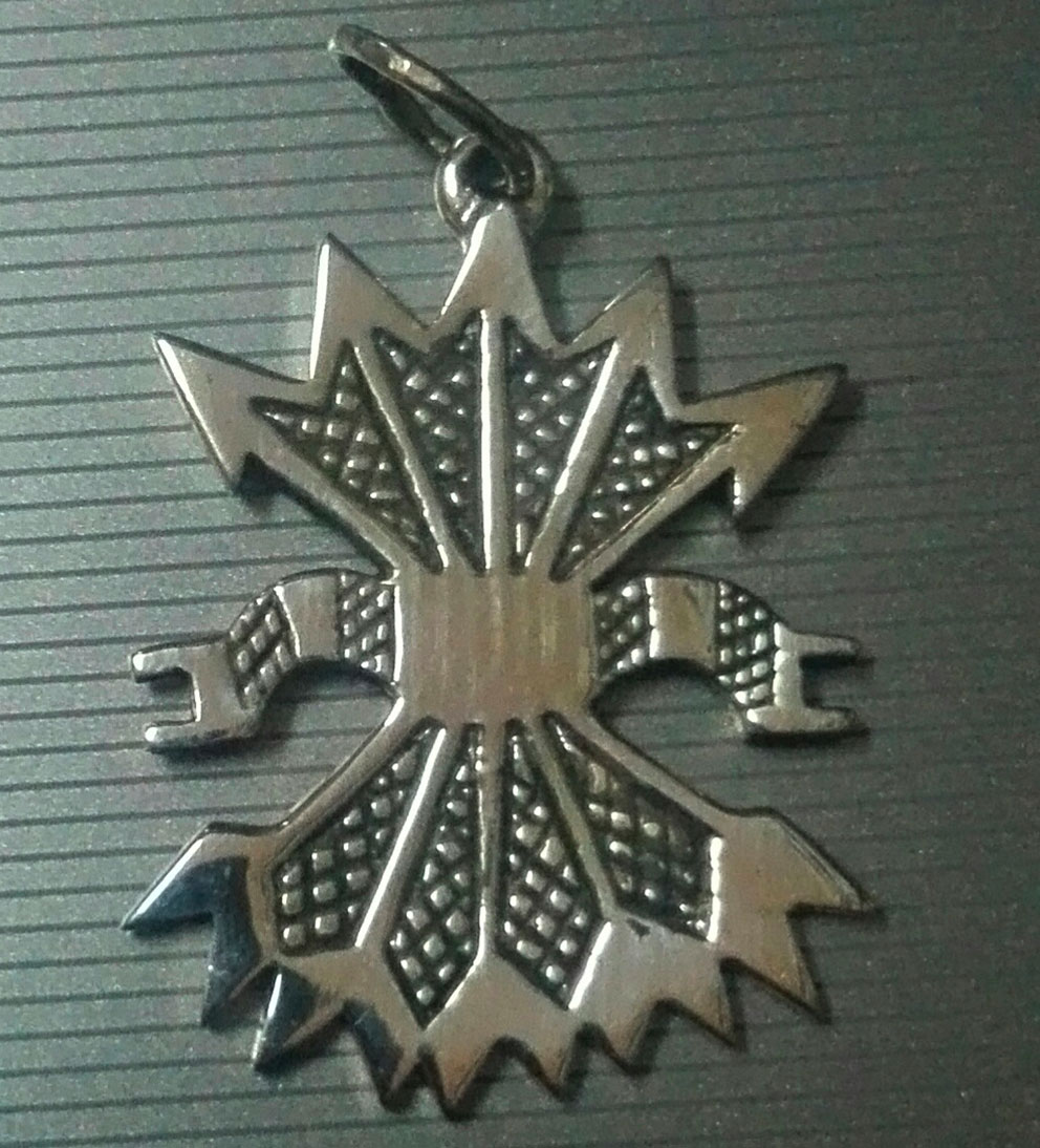 SILVER PENDANT (YOKE&ARROWS)